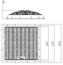 12″ x 12″ Square VGB Anti-Vortex Main Drain Frame & Grate