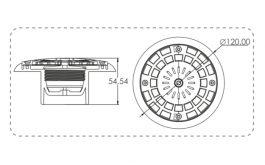 Adjustable Flow Floor Inlet – 2″ connection [No cut tiles]