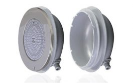 Emaux  E-Lumen Ultra Thin Stainless Steel, LED 20W / 12V Underwater Pool Light, EL-H200-252 c/w PVC Slim Niche [Color]