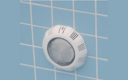 Emaux Flat Type ABS material, 8W / 12V LED Underwater WallLight, TP 100,No Niche, 2.5m Cable [White]