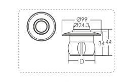 Eyeball Wall Inlet – 2″ push on connection